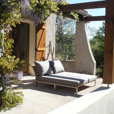 day-bed, tuin, terras, Sittingimage